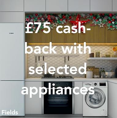 Fields - £75 cash-back on selected appliances