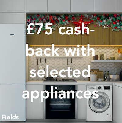 Fields - £75 cash-back on selected appliances