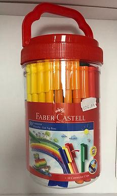 Faber-Castell 50 Connector Felt Tip Pens at JJ Toys