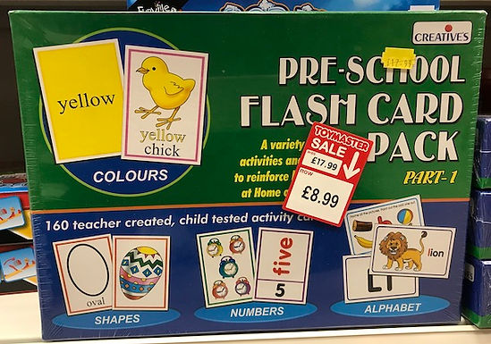 Pre-School Flashcard Pack on Localy.co.uk