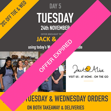 20% OFF at Jack & Alice this Tuesday & Wednesday