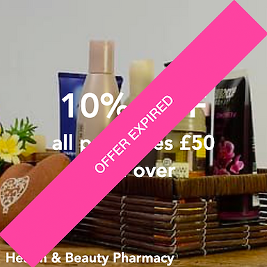 Health & Beauty Pharmacy - 10% off all purchases £50 and over*