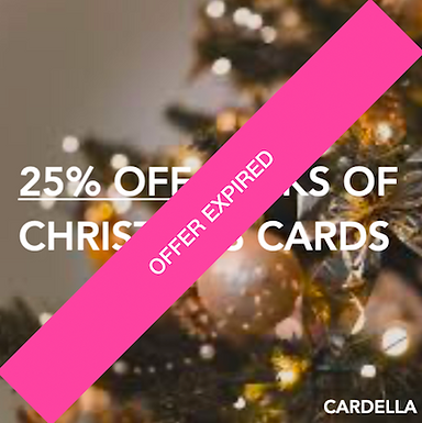 Cardella - 25% off - Packs of Christmas Cards