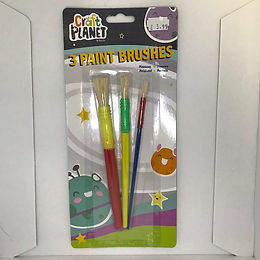 3 Paint Brushes at JJ Toys