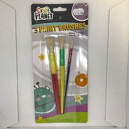 3 Paint Brushes at JJ Toys