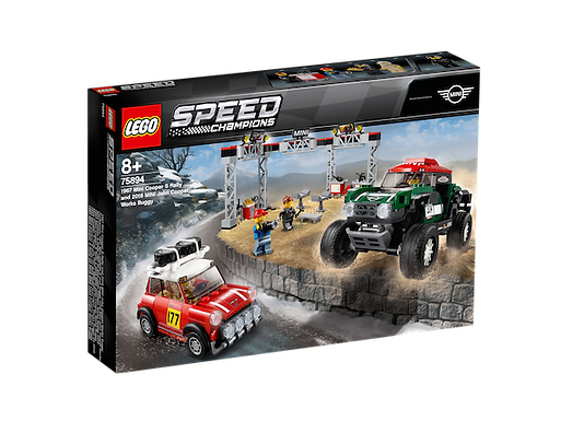 LEGO 75894 Speed Champions 1967 Mini Cooper S Rally and 2018 Mini J (GX1)