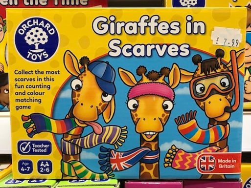Giraffes in Scarves by Orchard Toys on Localy.co.uk
