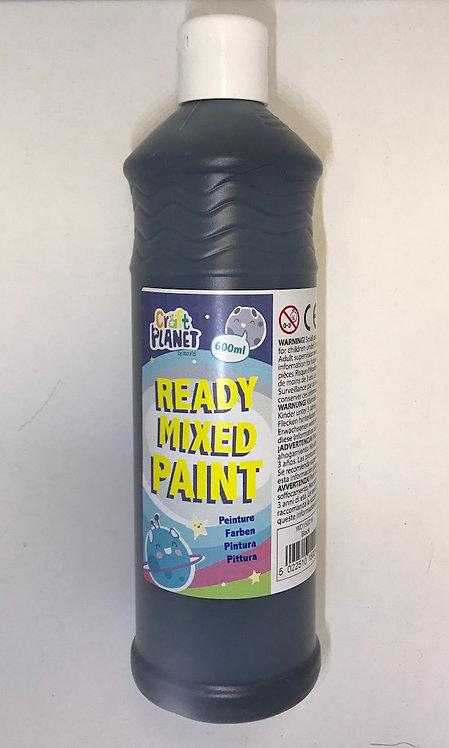 Ready Mix Paint 600ml Black at JJ Toys
