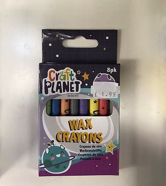 8 Craft Planet Wax Crayons (GX1)