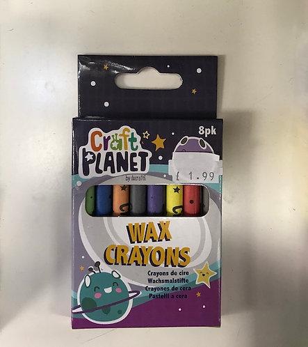 8 Craft Planet Wax Crayons (GX1)