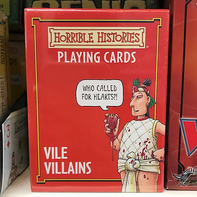 Horrible Histories Playing Cards - Vile Villains by Localy.co.uk (GX1)