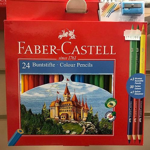 Faber-Castell 24 Colour Pencils (GX1)