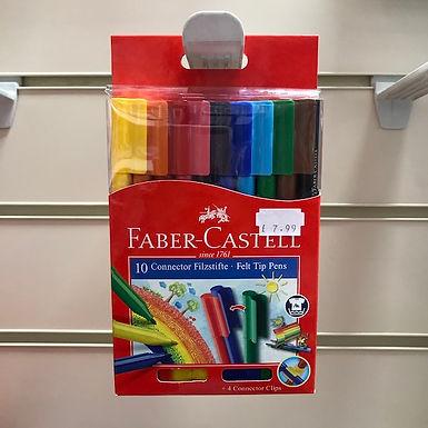 Faber-Castell 10 Felt Tip Pens at JJ Toys