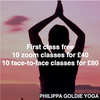 Philippa Goldie Yoga - First class free and class bundles