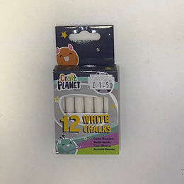 12 White Chalks at JJ Toys