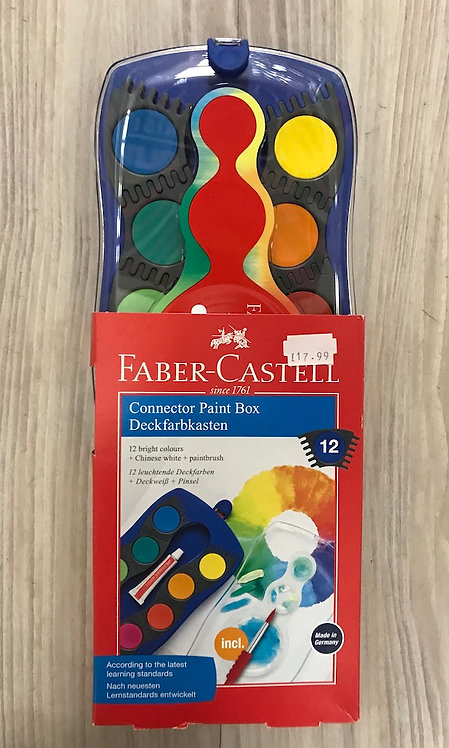 Faber-Castell 12 Colour Paint Box (GX1)