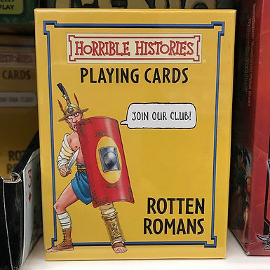 Horrible Histories Playing Cards - Rotten Romans by Localy.co.uk (GX1)