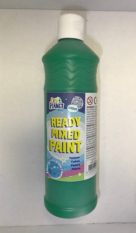 Ready Mix Paint 600ml Brilliant Green at JJ Toys