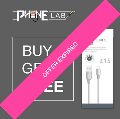 Phone Lab - Cyber Monday - Buy 1 Get 1 Free - Lightning Cable Offer