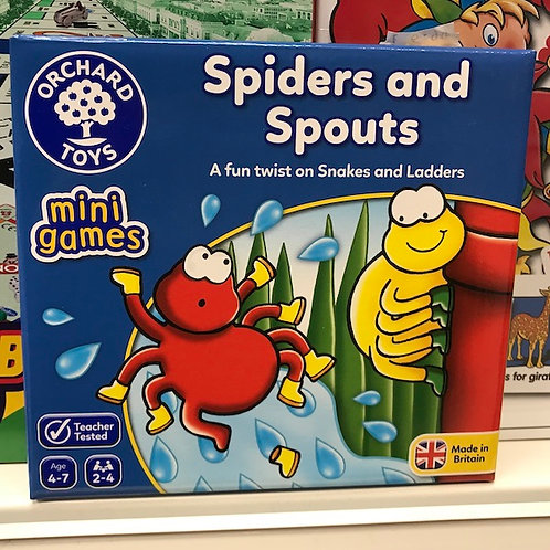 Spiders and Spouts Mini Games by Orchard Toys on Localy.co.uk