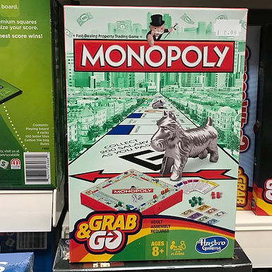 Monopoly Grab and Go by Hasbro on Localy.co.uk (GX1)