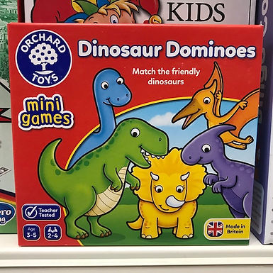 Dinosaur Dominoes Mini Games by Orchard Toys on Localy.co.uk