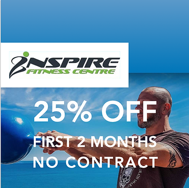Inspire Fitness - 25% off - First 2 months & No Contract