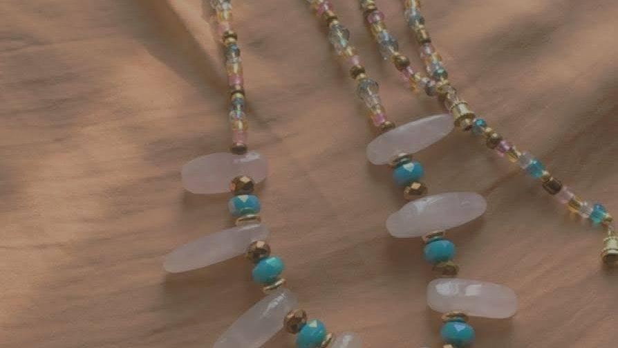 Arizona w/ Rose Quartz Crystals