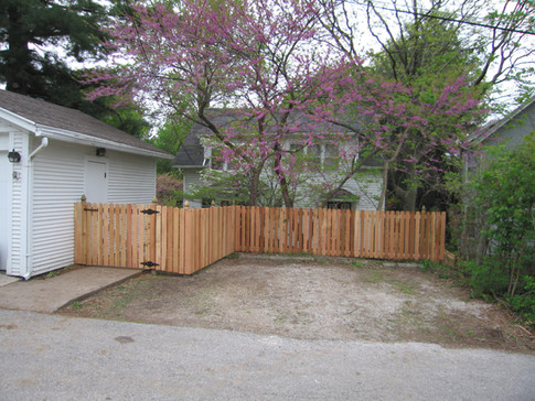 Lovewell Cedar Fence with Treated Posts