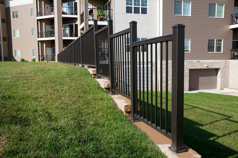 Retaining Wall Fence
