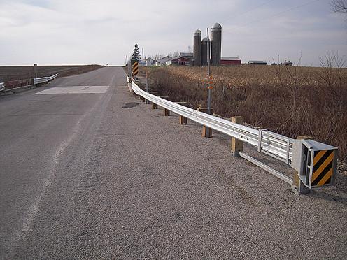 Rural bridge corner