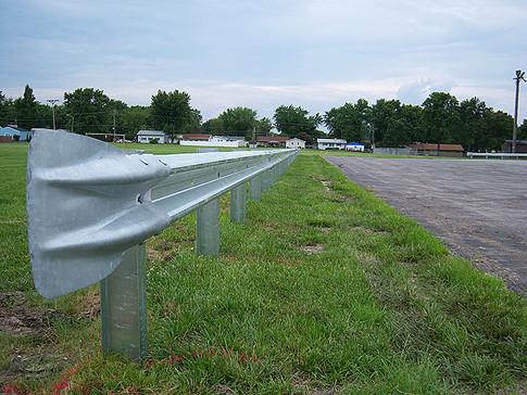 Flared end guardrails