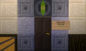 Die Tür des Obersten Kanzlers bleibt geschlossen.