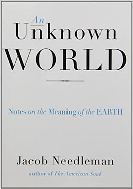JACOB NEEDLEMAN An Unknown World: Notes on the Meaning of the Earth