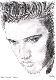 Elvis Presley - Zeichnung von Manfred Hilberger