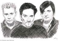 Portrait-Zeichnung von Manfred Hilberger