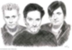 Die Ärzte - Zeichnung von Manfred Hilberger