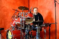 Manfred Hilberger am Schlagzeug