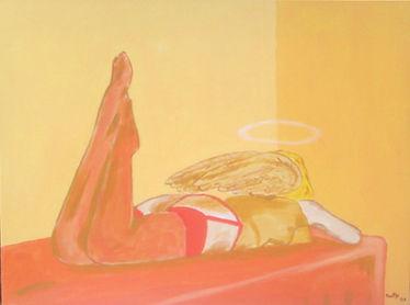Straps-Engel - Gemälde von Manfred Hilberger