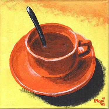 Kaffeepause - Gemälde von Manfred Hilberger