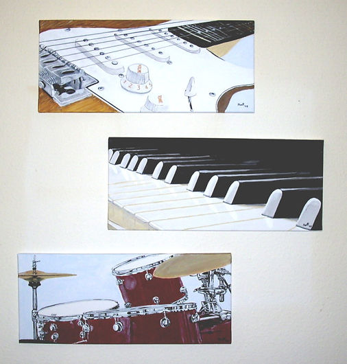 Introducing The Band - Gemälde von Manfred Hilberger