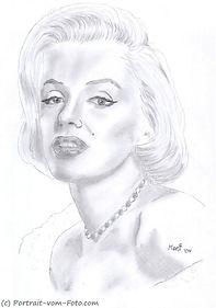 Marilyn Monroe - Zeichnung von Manfred Hilberger