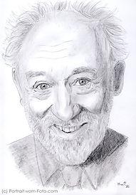 Dieter Hallervorden - Zeichnung von Manfred Hilberger