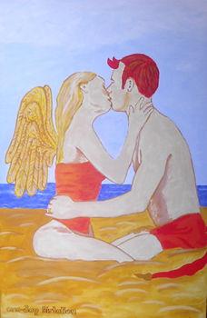 One-Day Flirtation - Gemälde von Manfred Hilberger