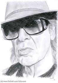 Udo Lindenberg - Zeichnung von Manfred Hilberger