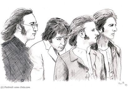 The Beatles - Zeichnung von Manfred Hilberger