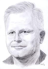 Herbert Grönemeyer - Zeichnung von Manfred Hilberger