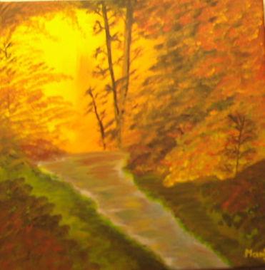 Herbstsonne - Gemälde von Manfred Hilberger