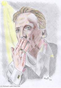Marius Müller-Westernhagen - Zeichnung von Manfred Hilberger