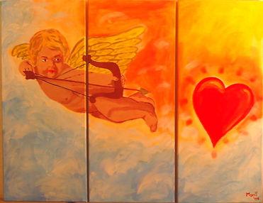 Liebe ist göttlich - Gemälde von Manfred Hilberger
